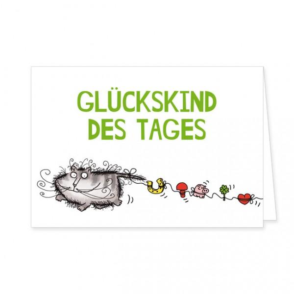 """Doppelkarte """"Catzz - Glückskind"""""""