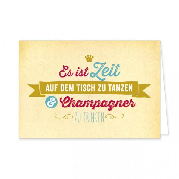 """Doppelkarte """"Champagner"""""""
