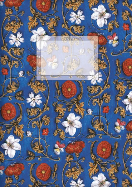 Kladden A6 'Flämische Buchmalerei', Blumenornamente'
