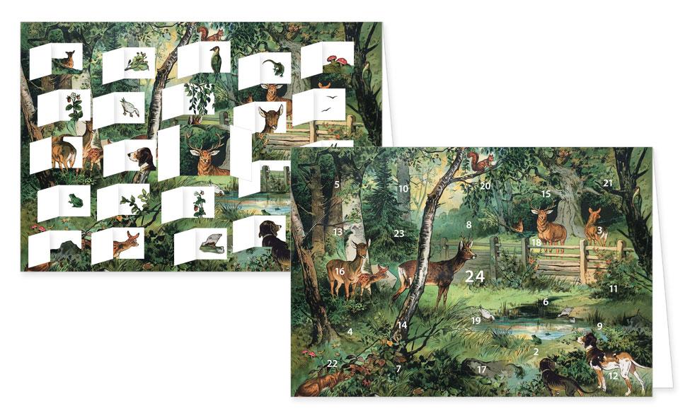 """Adventskalenderkarten """"Der Wald und seine Bewohner"""