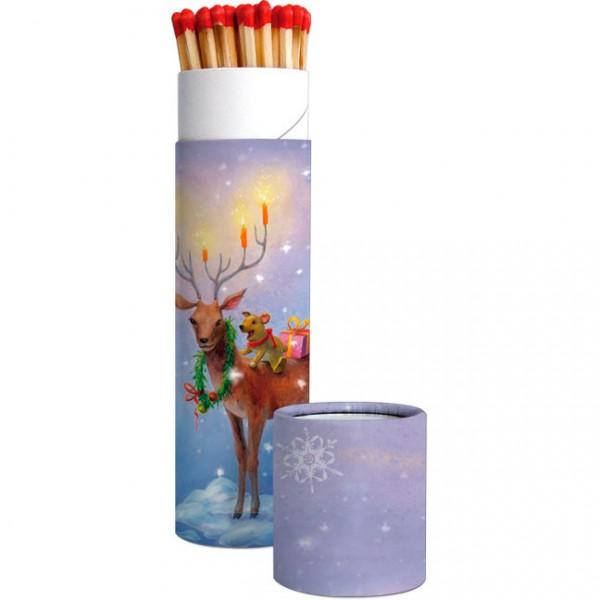 Zündholz-Dosen X-Mas 'Weihnachtshirsch'
