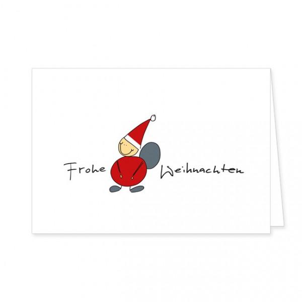 """Doppelkarten Xmas """"Frohe Weihnachten mit Weihnachtsmann"""""""