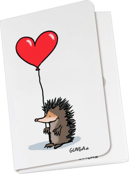 Taschennotizblöckchen 'Igel mit Herz'