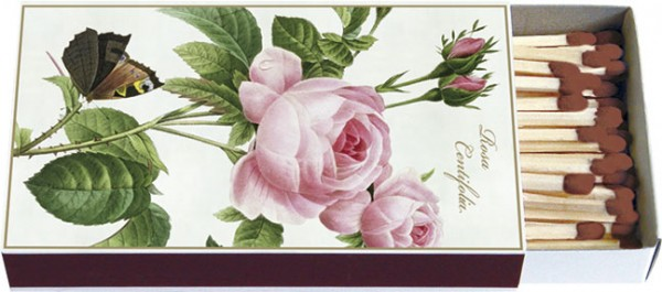 """Zündholz-Schachteln """"Rosa centifolia """""""