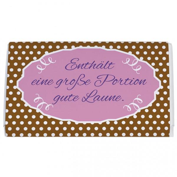 Schokoladentäfelchen 'Große Portion gute Laune'