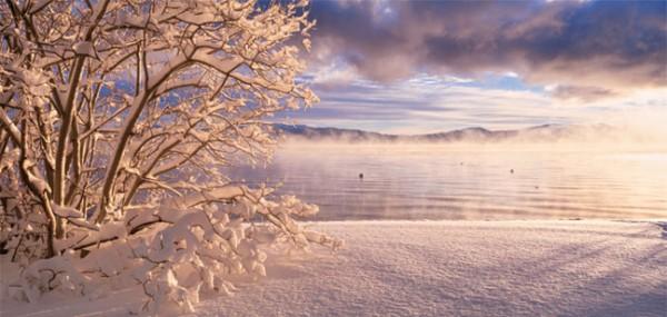 """XXL-Postkarte """"Winterstimmung am See"""""""