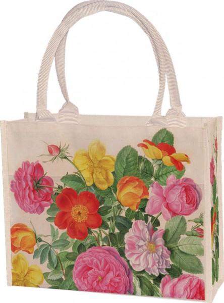 Einkaufstasche 'Rosen aus dem Nassau Florilegium'