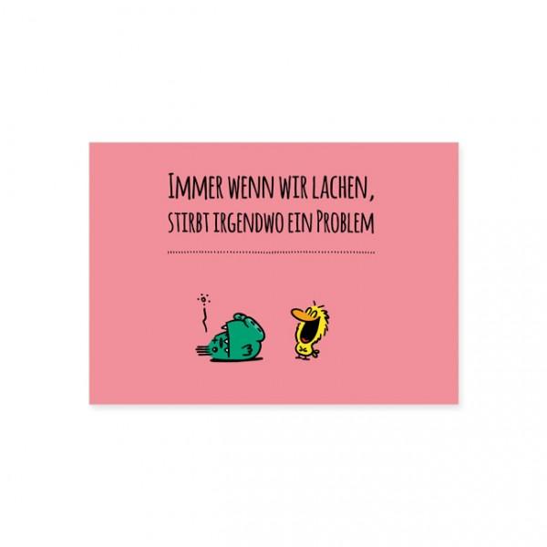 """Postkarte """" Immer wenn wir lachen """""""
