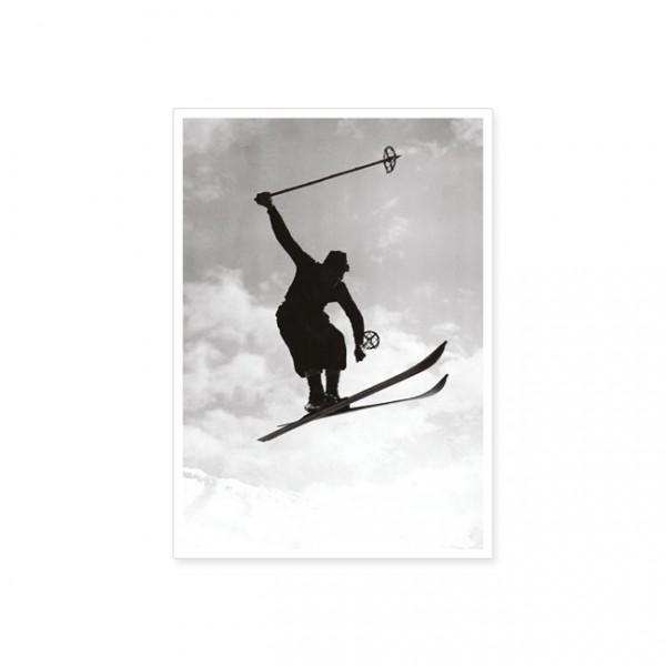 """Postkarte """"Skispringer"""""""