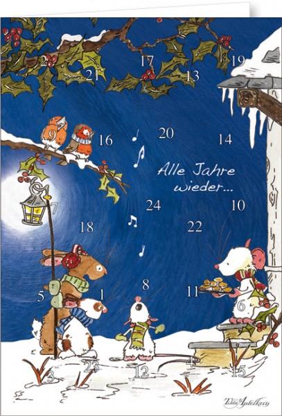 """Adventskalender A4 """"Tilda – Alle Jahre wieder"""""""