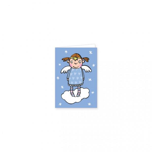 """Mini-Doppelkarte """"Engel auf Wolke"""""""