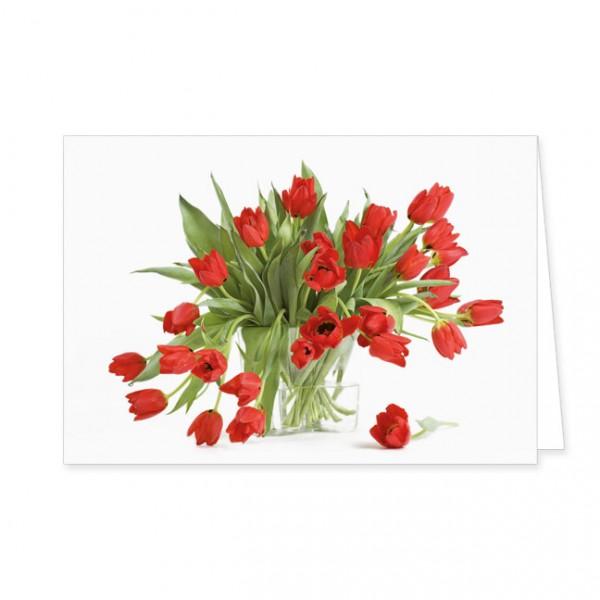 "Doppelkarte ""Rote Tulpen"""