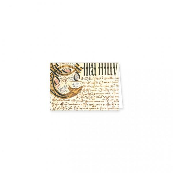 "Mini-Doppelkarten Gold ""Aus dem Privilegienbuch des C. Columbus"""