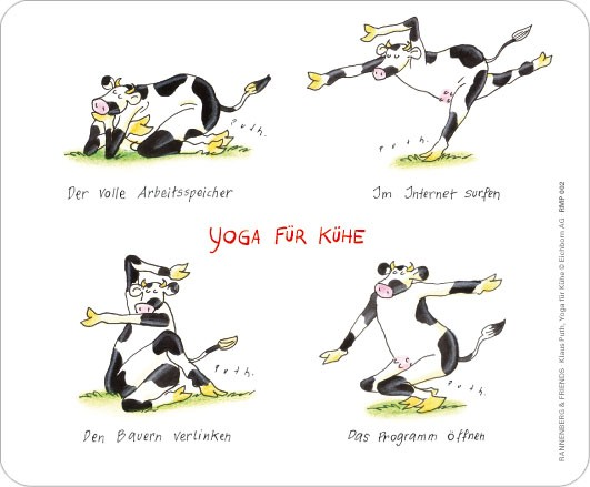 "Maus-Pad ""Yoga für Kühe"""