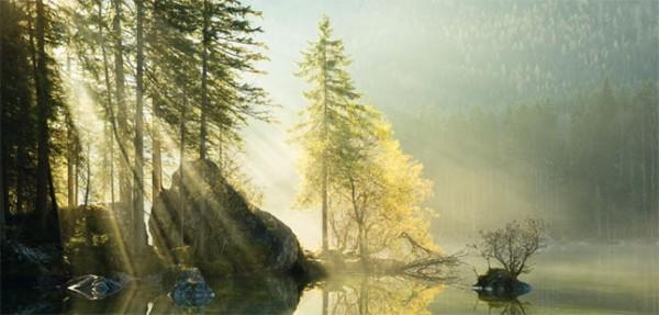 """XXL-Postkarte """"Bergsee"""""""