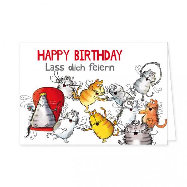 "Doppelkarte ""Catzz - Lass dich feiern"""