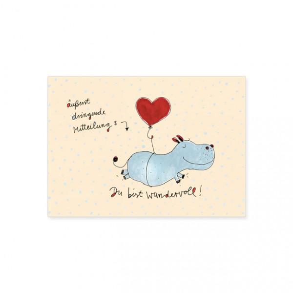 """Postkarte """"Du bist wundervoll!"""""""