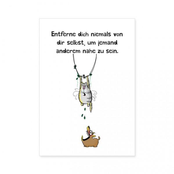 "Postkarten Large ""Catzz - Selbst sein"""