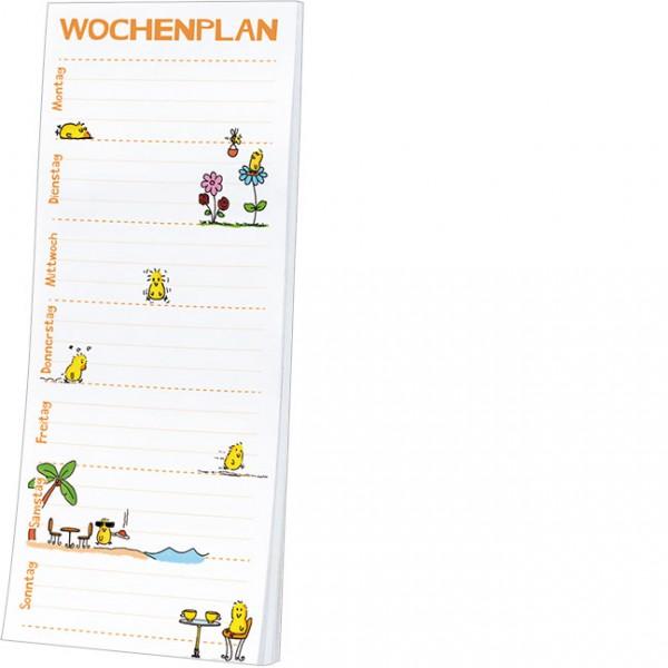 """Kühlschrankblöckchen """"Wochenplaner - Küken"""""""
