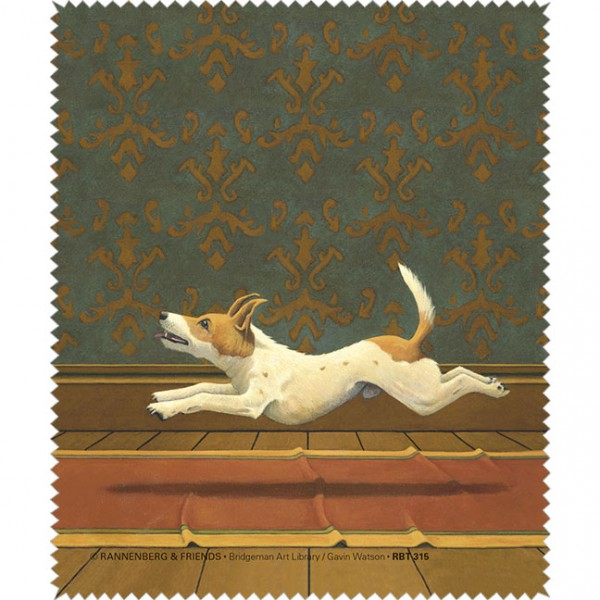 "Brillenputztuch ""Doggs-Bunte Hunde / The Postman Only Rings"""