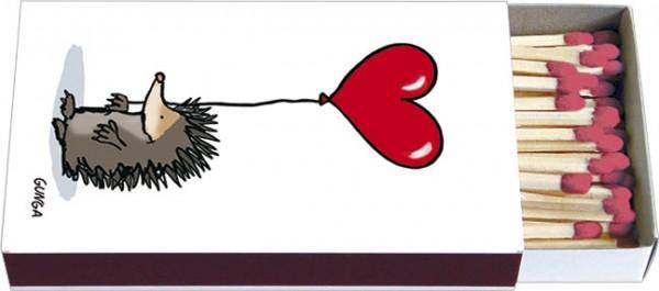 Zündholz-Schachteln 'Igel mit Herz'
