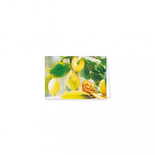 "Mini-Doppelkarte ""Zitronenstrauß"""