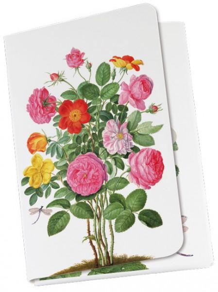 Taschennotizblöckchen 'Rosen aus dem Nassau Florilegium'