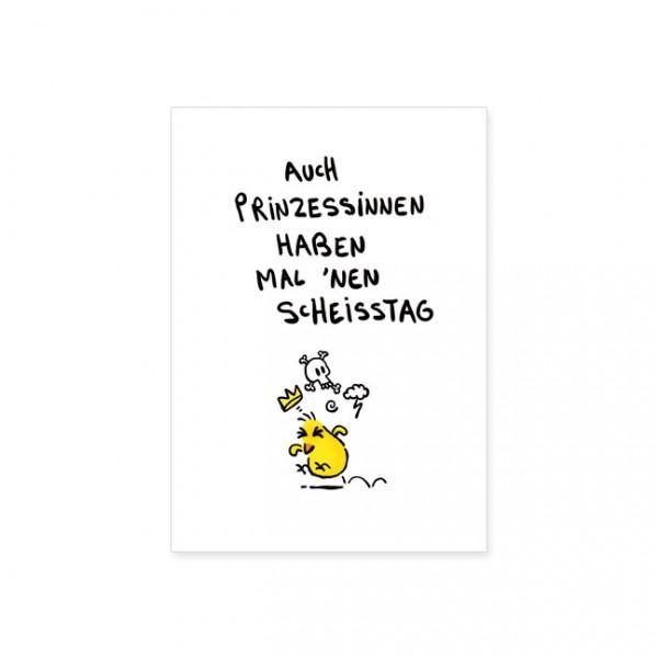 """Postkarte """"Auch Prinzessinnen"""""""