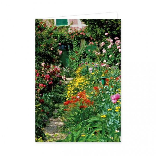 "Doppelkarte ""Blumenrabatte in Monets Garten"""