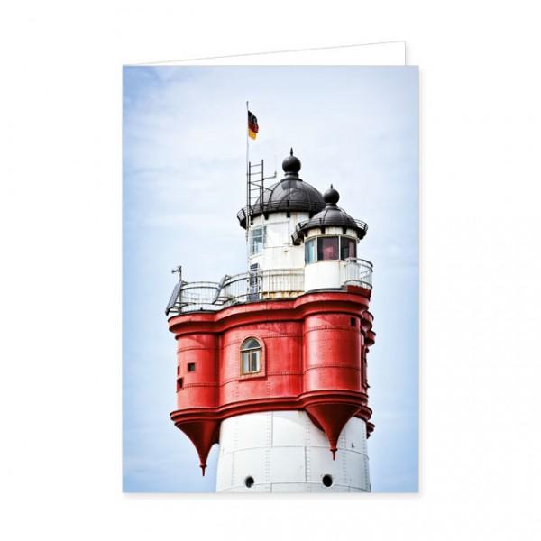 """Doppelkarten """"Laternenhaus des Leuchtturms Roter Sand"""""""