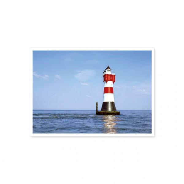 "Postkarte ""Leuchtturm im Meer"""