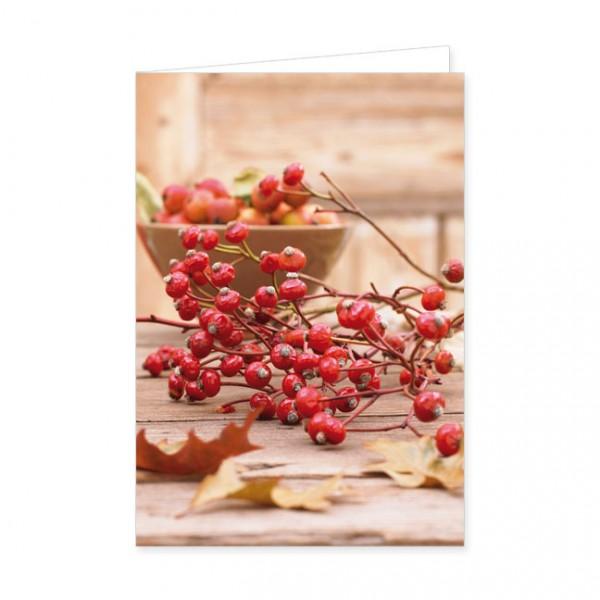"""Doppelkarte """"Herbstliche Tischdekoration"""""""