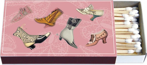 Zündholz-Schachteln 'Historische Schuhe'