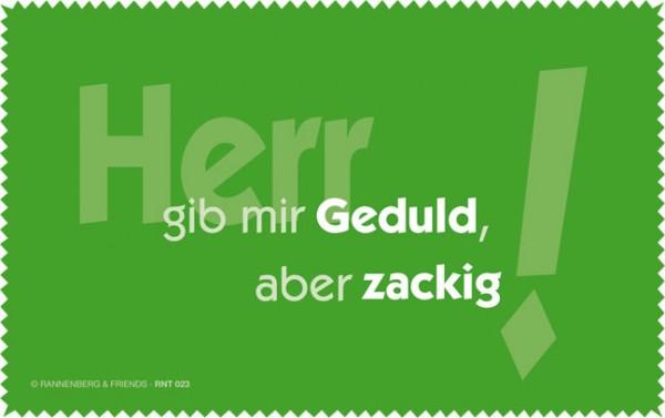 Netbooktuch 'Herr gib mir Geduld'