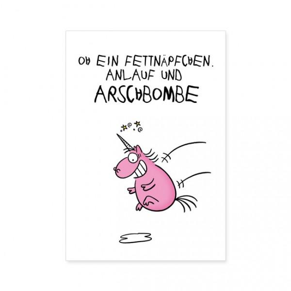 """Postkarten Large """"Ein Fettnäpfchen"""""""