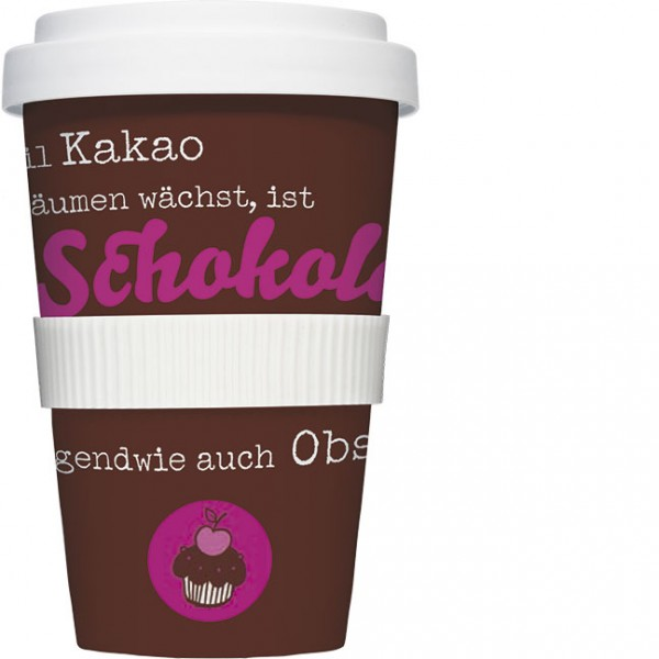 Coffee to go 'Schokolade ist Obst'