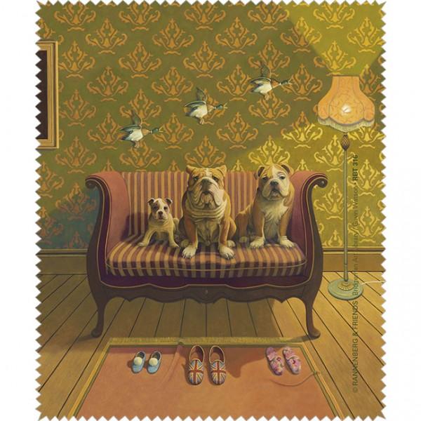 "Brillenputztuch ""Doggs-Bunte Hunde / Creature Comforts"""