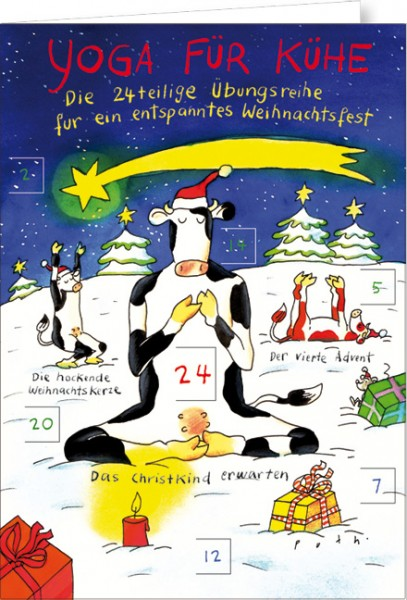 "Adventskalender A4 ""Yoga für Kühe - 24teiliges Übungsreihe"""