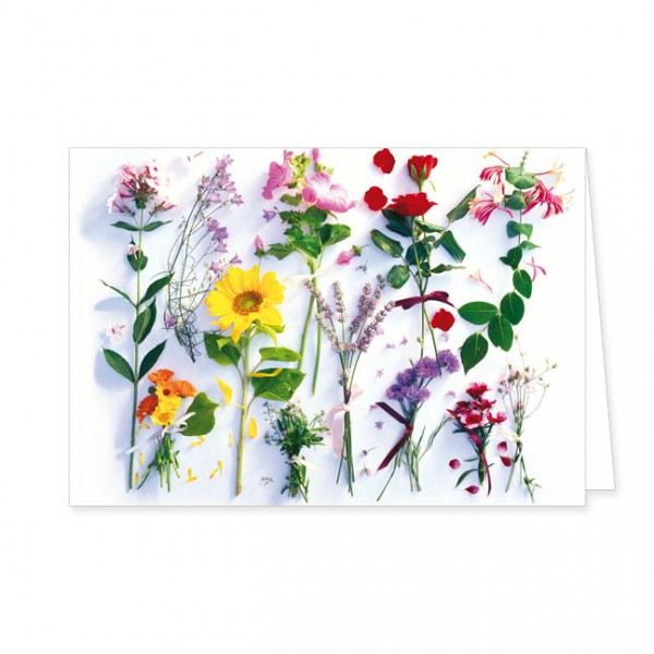 """Doppelkarte """"Sommerblumen Sortiment"""""""
