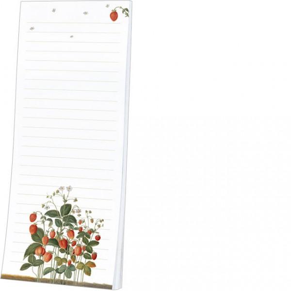 """Kühlschrankblöckchen """"Erdbeeren aus dem Nassau Florilegium"""""""