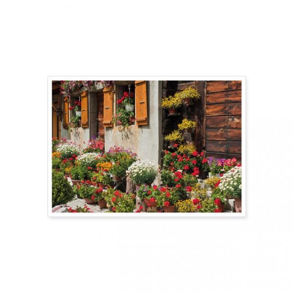 "Postkarte "" Bauerngarten """