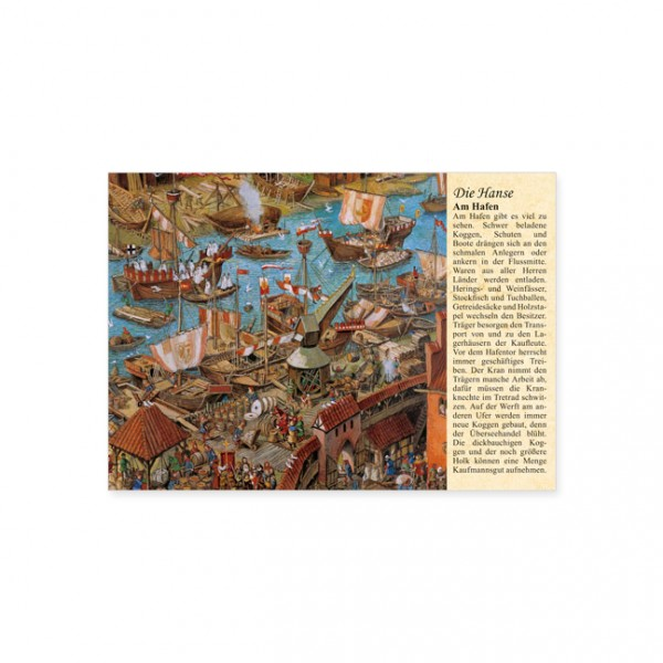 """Postkarte """"Die Hanse: Am Hafen"""""""