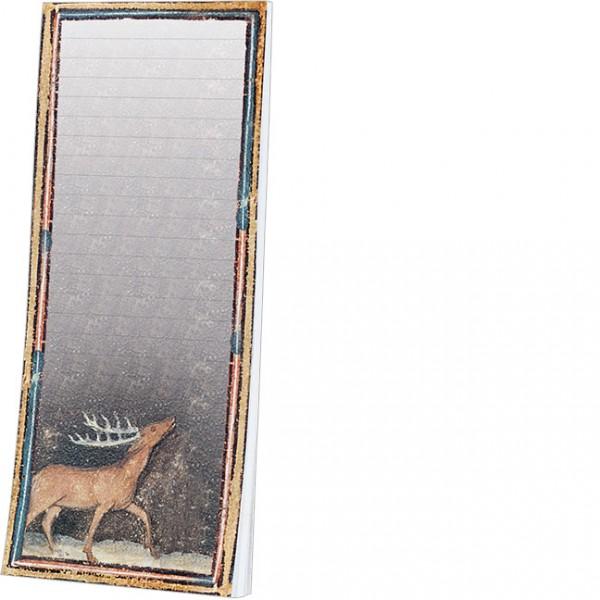 Kühlschrankblöckchen 'Hirsch aus dem Bestiarium' aus Le Livre des Proprietes des Choses