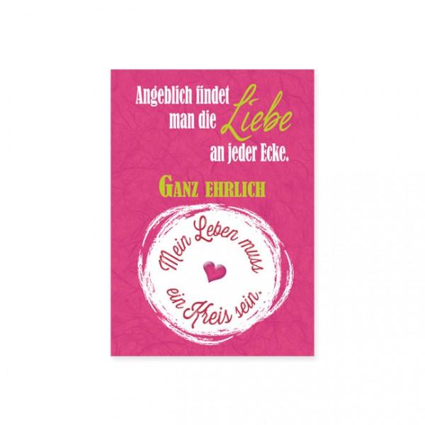 """Postkarte """"Mein Leben muss ein Kreis sein"""""""