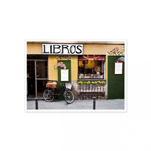 "Postkarte ""Libros"""