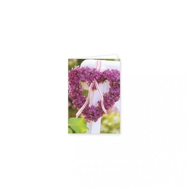 """Mini-Doppelkarte """"Ein Herz von Blumen"""""""