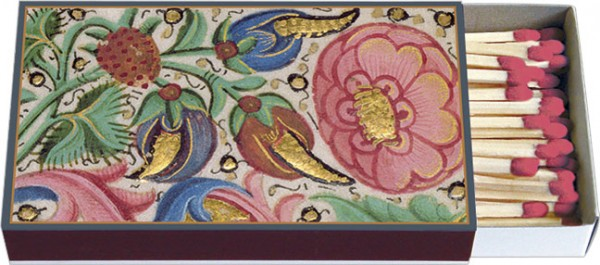 Zündholz-Schachteln 'Aus dem Buch von Hours, Inmitten von Blumen'