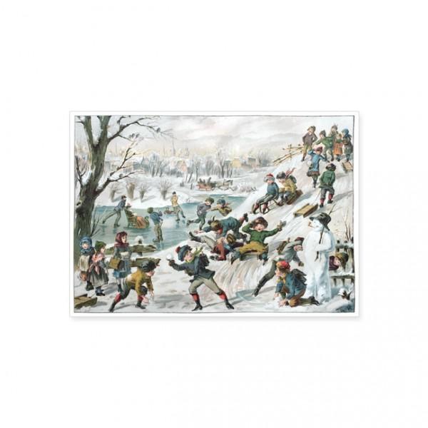 "Postkarte X-Mas ""Winterfreuden"""