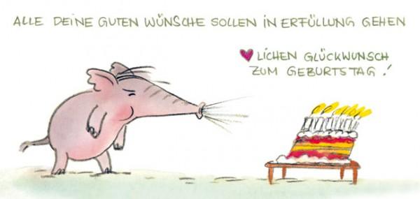 """XXL-Postkarte """"Alle deine guten Wünsche"""""""