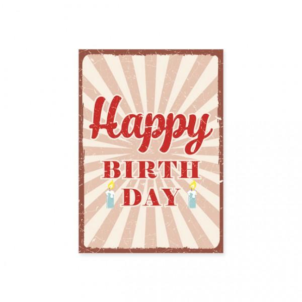 """Postkarte """"Happy Birthday - Strahlen"""""""